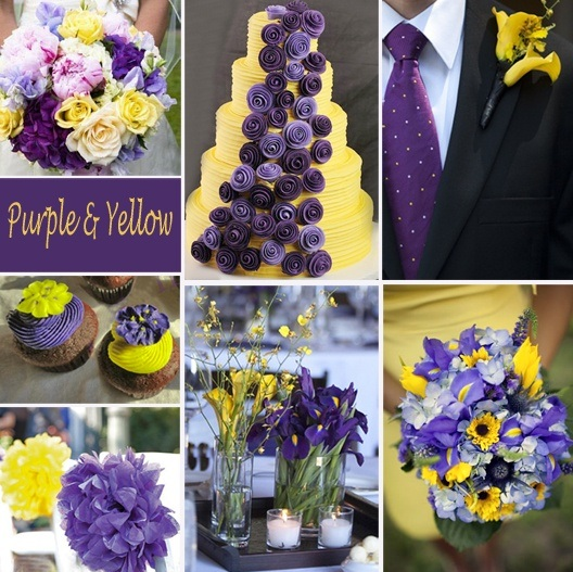 Purple Yellow Wedding Theme Ideas